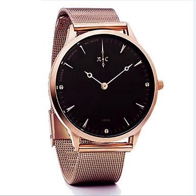 6a8520c57f1 Mulheres Relógio Casual Relógio de Moda Bracele Relógio Quartzo Prata    Dourada Impermeável Criativo Analógico senhoras Casual Rígida Elegante -  Café Prata ...