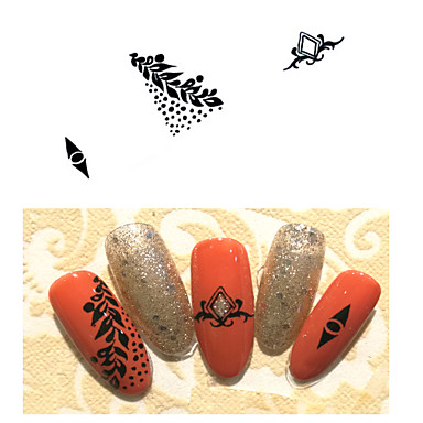 Tribal Art Deco / Retro Water Transfer Sticker Sticker Nail Stamping Template Daily Fashion High Quality