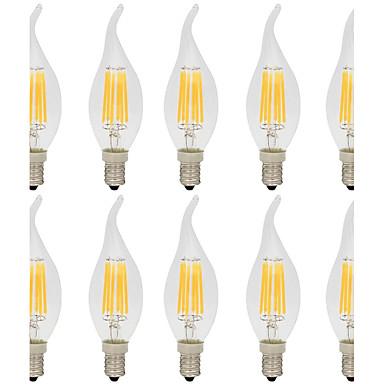 10pcs 6 W 560 lm E14 Izzószálas LED lámpák CA35 6 led COB Dekoratív Meleg fehér Hideg fehér AC 220-240V