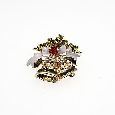 Férfi / Női Szintetikus gyémánt Melltűk - Klasszikus / Divat Geometric Shape Arany Bross Kompatibilitás Karácsony / Ajándék