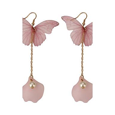 Női Bojt Pillangó Gyöngyutánzat Gyöngyutánzat Függők - Állati / Bojt Rózsaszín Fülbevaló Kompatibilitás Napi / Randi