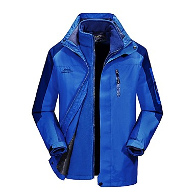 Men's Cycling Jacket outdoor Autumn / Fall Winter Windproof Rain-Proof Breathability Wearable Hiking Jackets Camping & Hiking Apparel & Accessories Activewear Polyester 3-in-1 Jacket Top Full Length
