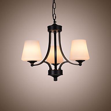 3-Light Chandelier Ambient Light 110-120V / 220-240V Bulb Not Included / 5-10㎡ / E26 / E27