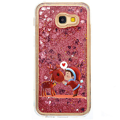 Case For Samsung Galaxy Flowing Liquid / Pattern Back Cover Glitter Shine / Christmas Hard PC for A5(2017) / A7(2017) / A7(2016)