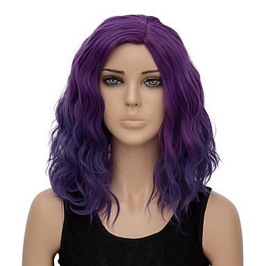 mørk lilla hår