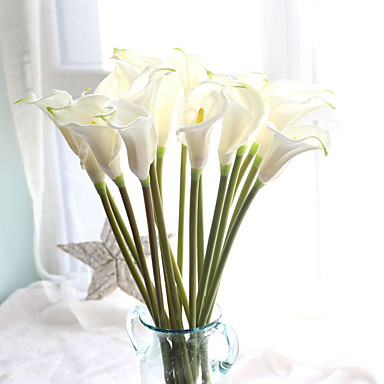 Artificial Flowers 10 Branch European Calla Lily Tabletop Flower