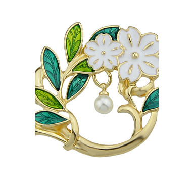 Women's Brooches - Pearl Leaf, Flower Ladies, Fashion, Cute Brooch Jewelry Gold For Daily / Casual