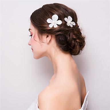Rhinestone / Alloy Hair Clip with 1 Wedding / Party / Evening Headpiece