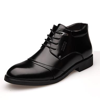 Férfi cipő Bőr Ősz / Tél Kényelmes / Formai cipő / Fur Bélés Félcipők Fekete / Barna
