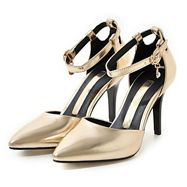 Women's Nubuck leather Fall / Winter Comfort / Novelty Wedding Shoes Stiletto Heel Pointed Toe Buckle Gold / Silver / Pink / Party & Evening / 3-4 / Party & Evening
