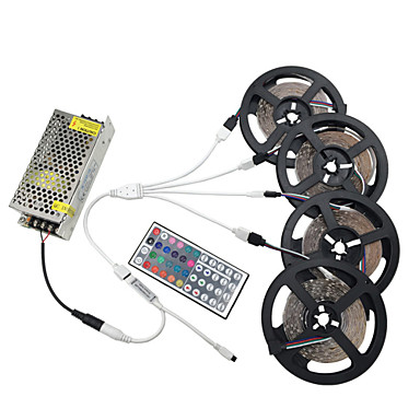 20m Light Sets 1200 LEDs 3528 SMD RGB Cuttable / Dimmable / Linkable 100-240 V 1pc / Self-adhesive / Color-Changing