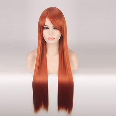 Jelmez parókák / Szintetikus parókák Egyenes Piros Női Sapka nélküli Jelmez paróka Hosszú Szintetikus haj