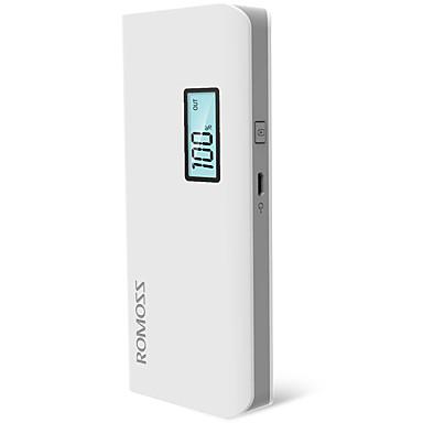 billige Eksterne batterier-ROMOSS 10400 mAh Til Power Bank Eksternt batteri 5 V Til Til Batterilader Overladningsbeskyttelse / Overbelastningsbeskyttelse / Kortslutningsbeskyttelse LED
