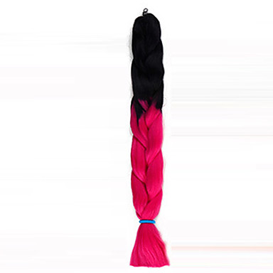Hår til fletning Box Braids Jumbofletter Syntetisk hår 1 stk / pakke, 3 røtter Hårfletter Ombre hårfletter