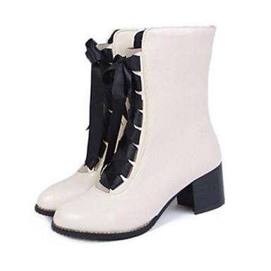 Botte Confort Bottine Eté Bottes Polyuréthane rond Femme Bottes 06247193 Chaussures la Nouveauté à Mode Plat Demi Bout Talon Printemps ZCqwtTvwnI