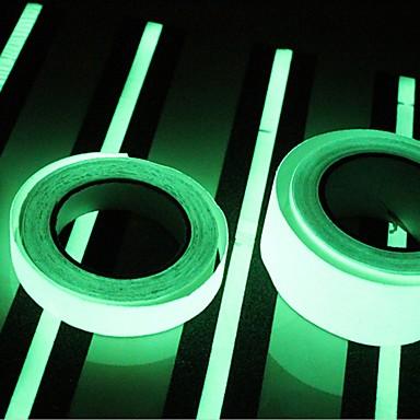 400 * 2cm fényes sötét világító fényes szalag zöld fluoreszcencia matrica éjszaka fényes szalag szalag díszítés lépcső ajtó motorkerékpár