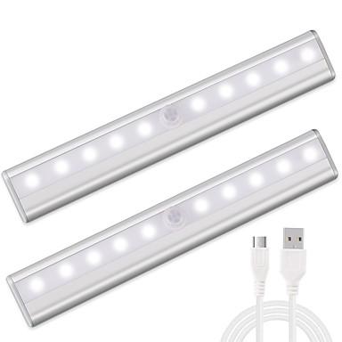 1set LED éjszakai fény Meleg fehér Fehér USB Infravörös érzékelő