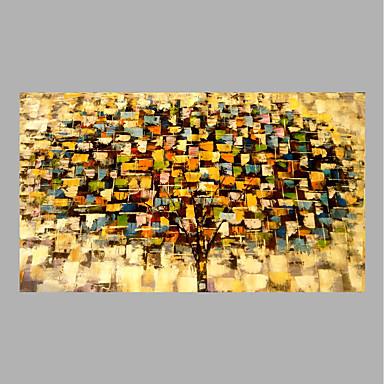 Hang festett olajfestmény Kézzel festett - Absztrakt Kortárs Anélkül, belső keret / Hengerelt vászon