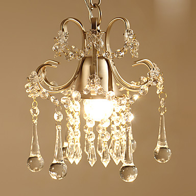 Crystal Pendant Light Downlight - Crystal, Bulb Included, 110-120V / 220-240V, Warm White, Bulb Included / 5-10㎡ / E26 / E27