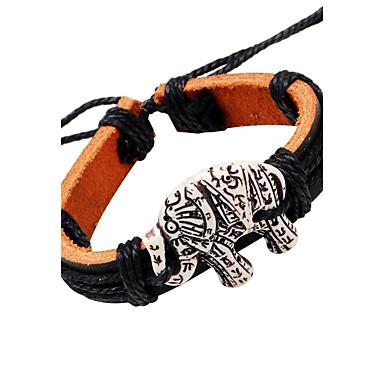 voordelige Herensieraden-Heren Hars Lederen armbanden Olifant Vintage Leder Armband sieraden Zwart Voor Causaal Toneel