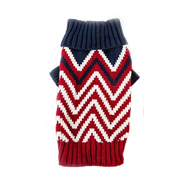Cat Dog Sweater Dog Clothes Color Block Red Green Chinlon Costume For Pets Casual/Daily Keep Warm Sports