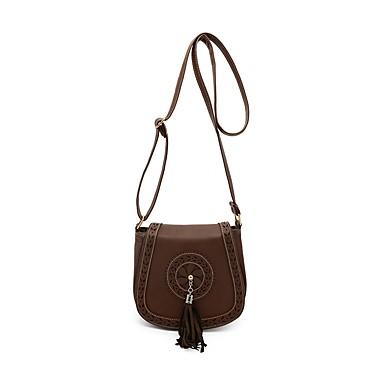 Women's Bags PU(Polyurethane) Crossbody Bag Appliques Beige / Maroon / Brown