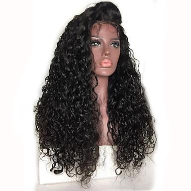 Emberi haj Csipke eleje Paróka Brazil haj Göndör Kinky Curly Paróka Tincselve 130% Haj denzitás Afro-amerikai paróka 100% kézi csomózású Női Emberi hajból készült parókák / Kinky Göndör