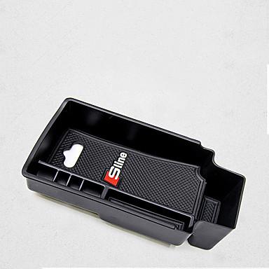 Car Organizers Front Armrest Storage Box Plastic For Audi 2017 2012 2013 2014 2015 2016 Q3