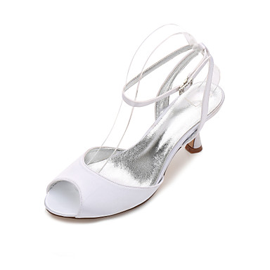 Damen Hochzeit Schuhe Pumps Komfort Mary Jane D'Orsay und Zweiteiler Satin Frühling Sommer Hochzeit Kleid Party & FestivitätStrass