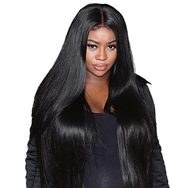 Remy haj Csipke Paróka Brazil haj Egyenes Paróka 180% Haj denzitás 100% kézi csomózású Női Hosszú Emberi hajból készült parókák
