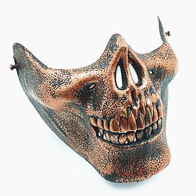 voordelige Maskers voor de feestdagen-Halloweenmaskers Practical joke Gadget Hallloween figuren Carnavalsmaskers Schedelmasker Sieni Muovi Vintage Retro Nieuwigheid Schedel Skull Skeleton Horrorthema Volwassenen Unisex Jongens Meisjes
