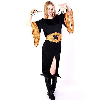 häxa   Vampyr Kostym Dam Jul   Halloween Festival   högtid  Halloweenkostymer Lappverk d7e5303970327
