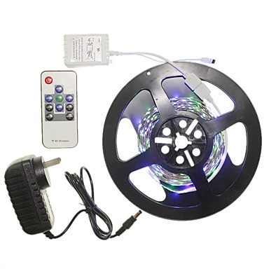 SENCART 5m Light Sets 300 LEDs 2835 SMD RGB Remote Control / RC / Cuttable / Dimmable 100-240 V 1 set / Linkable / Self-adhesive / Color-Changing