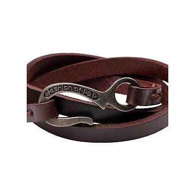 voordelige Herensieraden-Heren Lederen armbanden Gepersonaliseerde Vintage Leder Armband sieraden Zwart / Bruin Voor Causaal Toneel