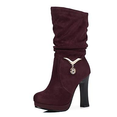 Hiver Bottes Bottier Cuir Nubuck Automne Bout 06232002 Noir Femme Talon Chaussures Confort Vert Violet rond AqYfw8SI