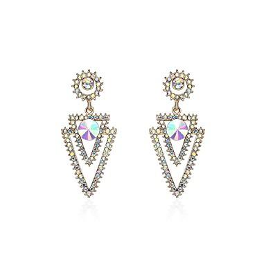 Női Szintetikus gyémánt Strassz Függők - Természet / Karácsony Szivárvány Geometric Shape Fülbevaló Kompatibilitás Karácsony / Klub