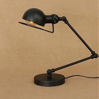 Metallic / Artistic / Rustic Eye Protection / Foldable / Swing Arm Table Lamp For Metal 110-120V / 220-240V