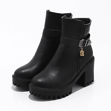 Hiver Botillons Similicuir Bout 06241758 Chaussures boîtes Plateau Bottier Automne de Talon Bottes Femme la Mode rond Bottes à Combat q8t5wd