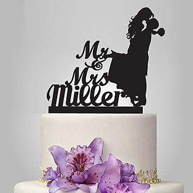 Wedding Cake Topper.Cake Topper Classic Theme Romance Wedding Classic Couple Plastic Wedding With 1 Pcs Poly Bag