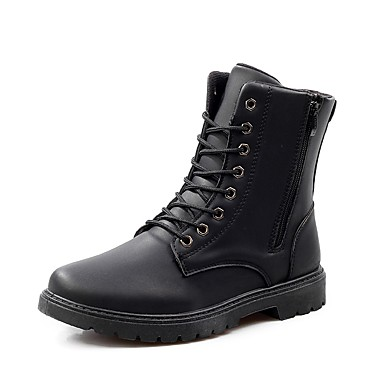 Men's Comfort Shoes Leather Fall / Winter Boots Mid-Calf Boots Black / Brown