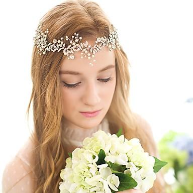 billige Hodeplagg til fest-Krystall / Imitert Perle pannebånd / Hodeplagg / Hodetkjede med Blomster 1pc Bryllup / Spesiell Leilighet / Bursdag Hodeplagg
