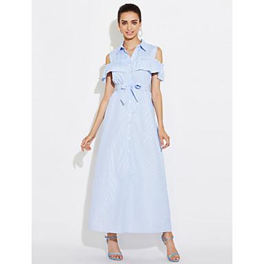 7feb2d8e47c4 casual ενδυμάτων γάμου μπλε ριγέ maxi φόρεμα παραλία φορέματα άνοιξη  καλοκαίρι 2017 αμάνικο γιλέκο φούστα 5679681 2019 –  12.99