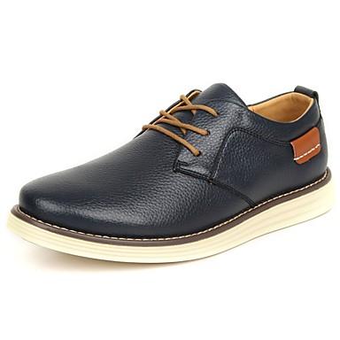 Férfi Kényelmes cipők Bőr Tavasz / Ősz Félcipők Fekete / Sötétkék / Világosbarna