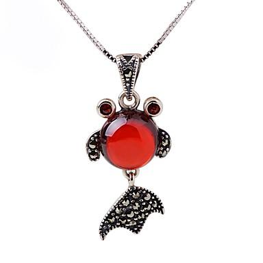 Női Szintetikus rubin Ezüst Strassz Rövid nyakláncok Nyaklánc medálok  -  Vintage Divat Állat Ezüst Nyakláncok Kompatibilitás Ajándék