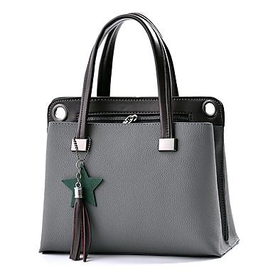 Women's Bags PU(Polyurethane) Shoulder Bag Zipper Purple / Army Green / Wine