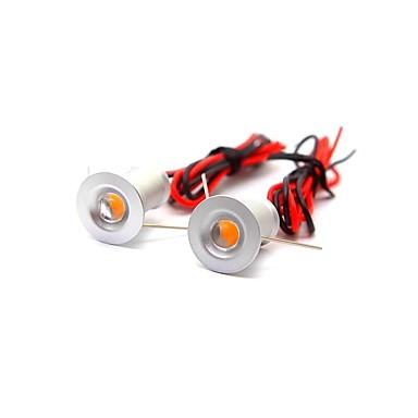 billige Elpærer-ONDENN 2pcs 1 W 100 lm 1 LED perler Dekorativ Innfelt lampe Varm hvit Kjølig hvit 12 V Hjem / kontor Barneværelser Kjøkken / CE