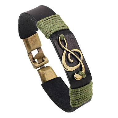 Women's Leather Bracelet - Leather Music Notes Personalized, Fashion Bracelet Black / Coffee For Casual / Stage