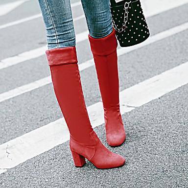 Bottes Bottes Noir Femme Bout à Hiver Rouge Similicuir rond 06242260 Cuir la Bottier Cuissarde Nubuck Automne Bleu Mode Chaussures Talon wqYpwfv