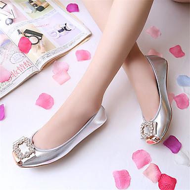 Femme Chaussures Flocage / Similicuir Eté / Automne Confort Ballerines Ballerines Ballerines Talon Plat Bout carré Strass Or / Noir / Argent   Distinctif  46b3e3