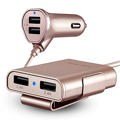 Autós töltő USB töltő Univerzális Gyors töltés 4 USB port 4.8 A DC 12V-24V
